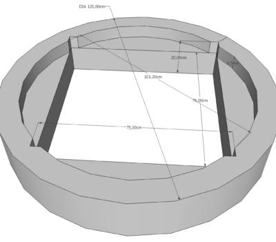 Cadre Béton Circulaire Diamètre 120 Déco-Ouest