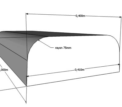 Bordure En Béton Avec 2 Bords Arrondis - Déco-Ouest